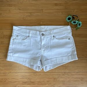 7 for all mankind - White Jean Shorts - Size 27